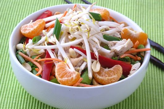 Chinese Chicken Salad with Honey Peanut Dressing