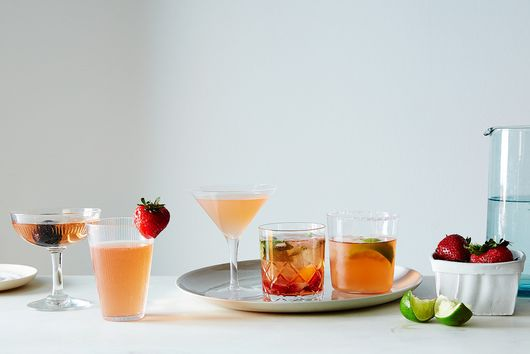 Strawberry Gin-Rosé Smash