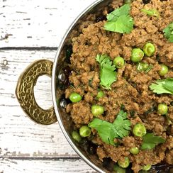 Keema Matar in Instant Pot (spicy minced meat with peas)