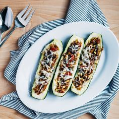 Zucchini Stuffed with Lamb and Vegetables