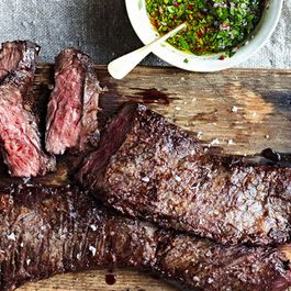 Grilling with Adam Rapoport: Skirt Steak with Chimichurri Sauce