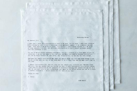 Love Letter Napkins (Set of 4)