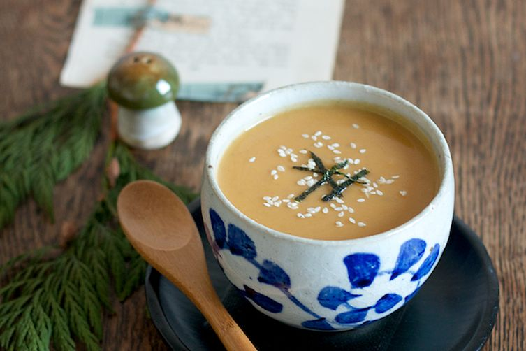 Butternut Squash and Chestnut Miso Soup