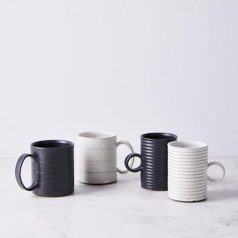 Handmade Ceramic Striped Mug