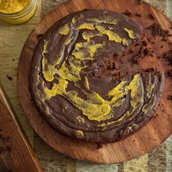 Almost Paleo Chocolate Pumpkin Cake