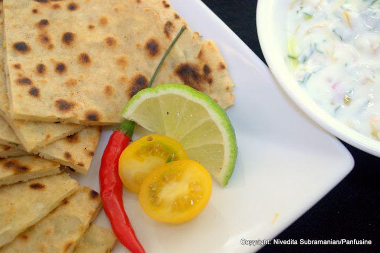 Rosemary Alu Paratha (Potato Parathas with Fresh Rosemary)