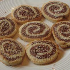 Chocolate and Coconut Pinwheels