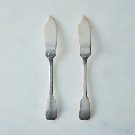 Vintage French Silver Knife (Set of 2)