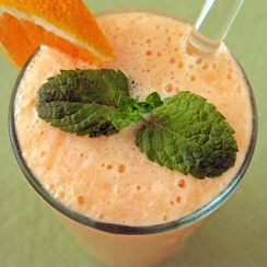 Cantaloupe and Orange Lassi with Anise
