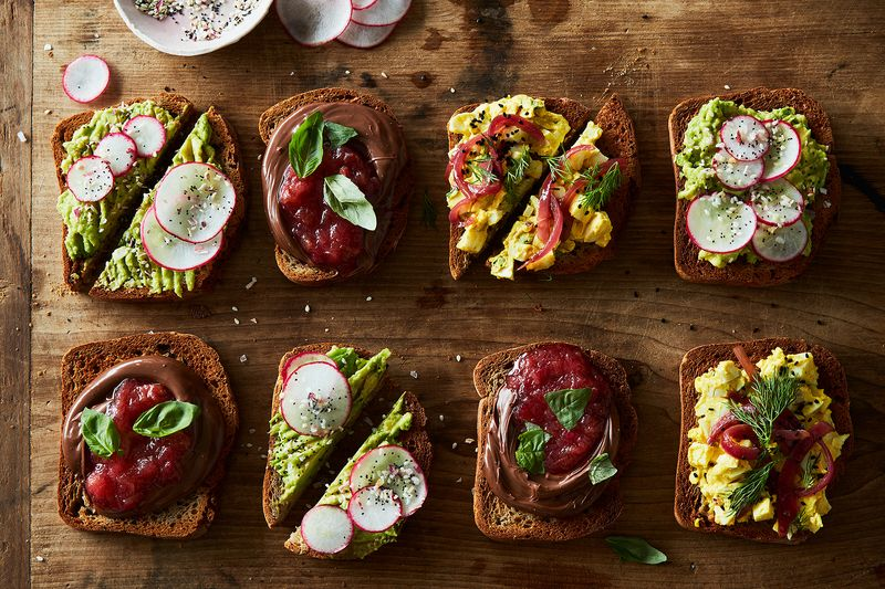 Toasts on toasts on toasts.