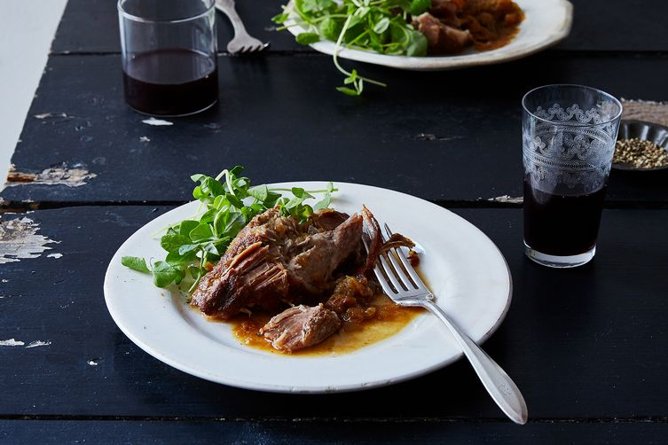 Pork Shoulder Braised With Apples Recipe — Dishmaps