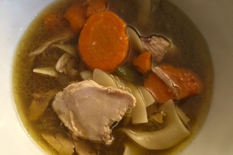 Chicken Noodle Soup, Best, With Cinnamon, Allspice and Lemon
