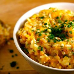 Butternut Squash and Pancetta Risotto