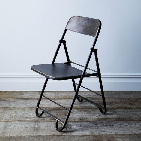 Reclaimed Iron Feldman Folding Chair