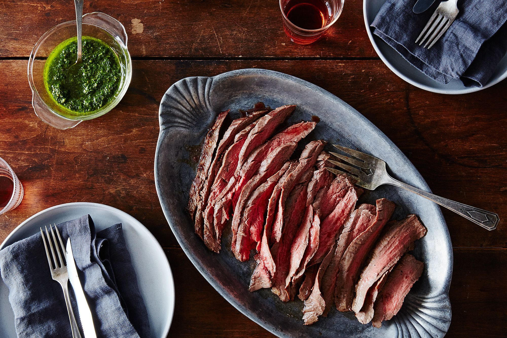 How To Make Quick Flank Steak With Green Sauce