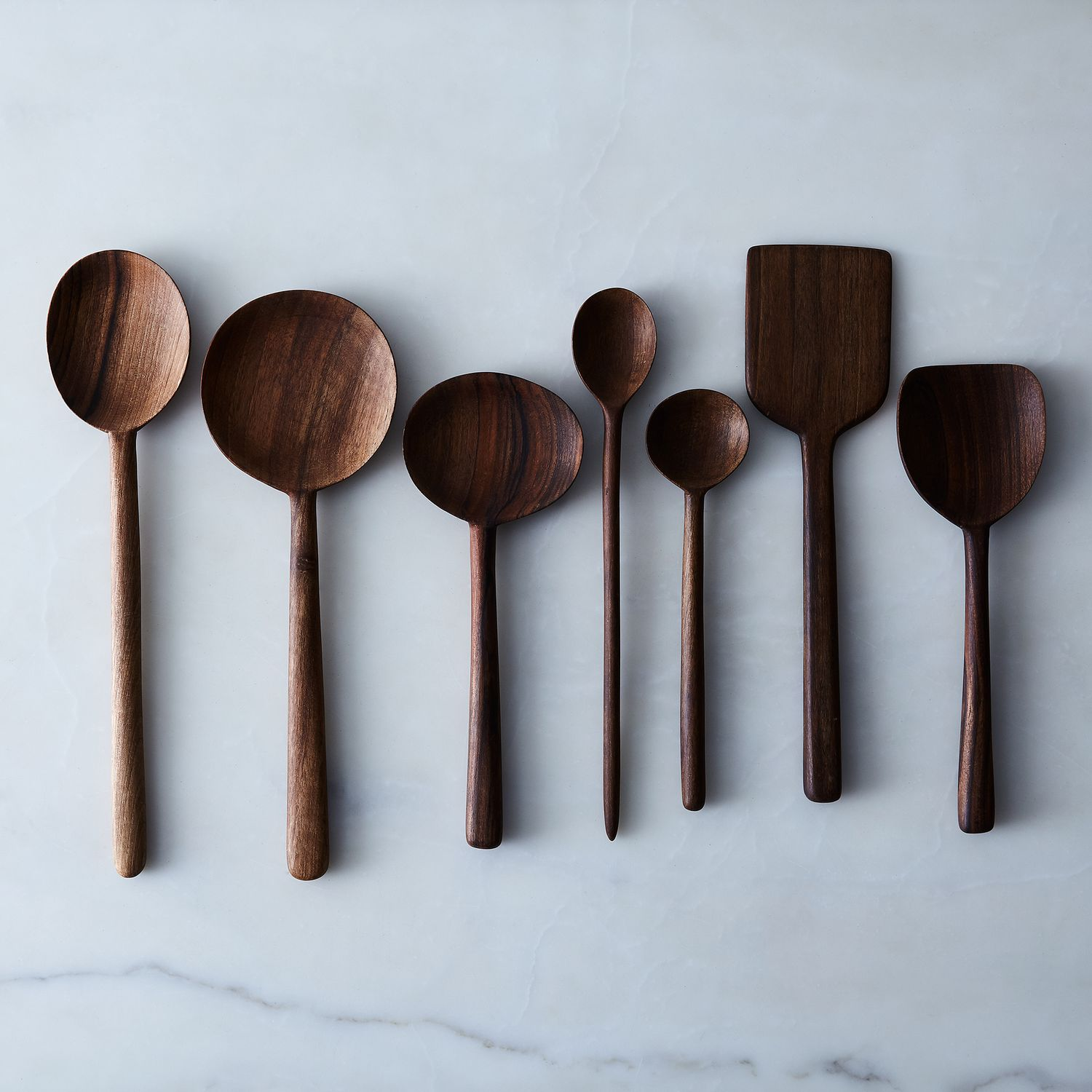 Simple walnut wooden spoons on food52 for Wooden kitchen spoons