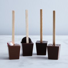 Hot Chocolate on a Stick (Set of 4)