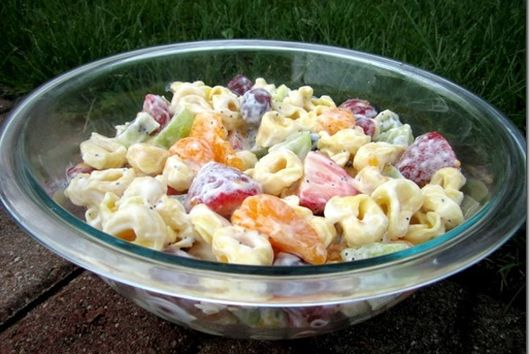 Creamy Fruit & Tortellini Salad