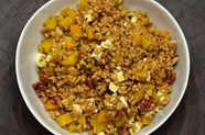 Farro, Golden Beet, and Feta Salad with​ ​Pecans and Chive-Sage Dressing