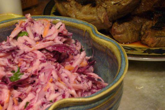 Horseradish Apple Parsnip Coleslaw