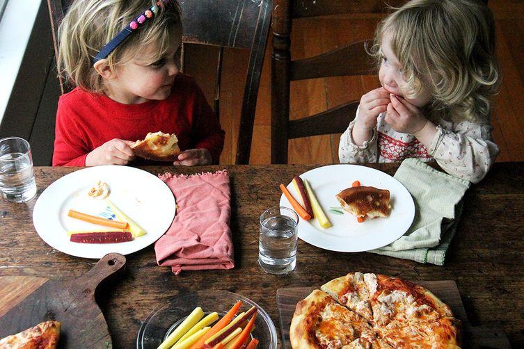 Kids' Skillet Pizza: Jarred Sauce + Mozzarella
