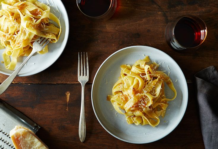 James Beard's Braised Onion Pasta