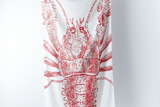 Lobster Cotton Gauze Scarf by thomaspaul