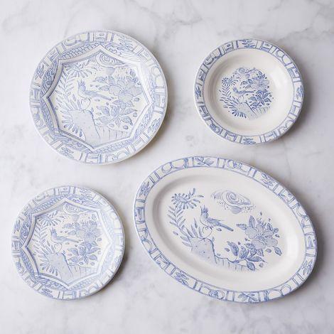 Gien Oiseau Bleu Vintage-Inspired French Dinnerware