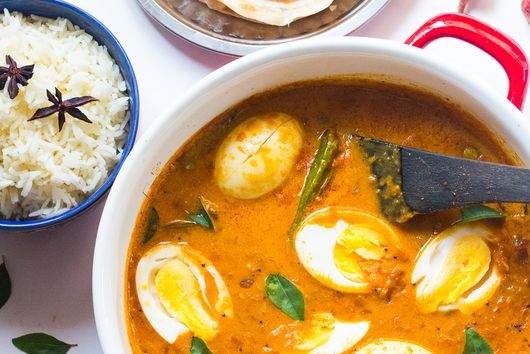 South Indian Style Egg Curry in Coconut Milk