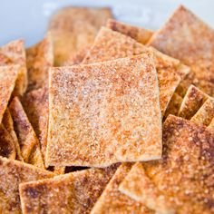 Cinnamon-Sugar Pita Chips
