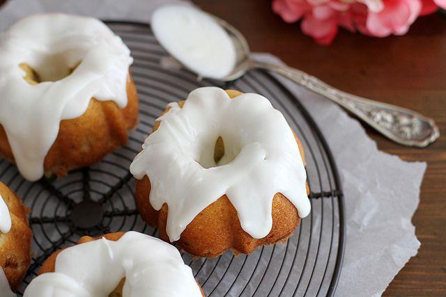 Lemon Rhubarb Bundt Cakes