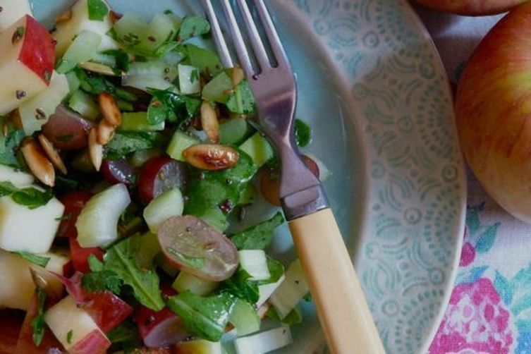 Apple and Celery Salad with Toasted Seeds