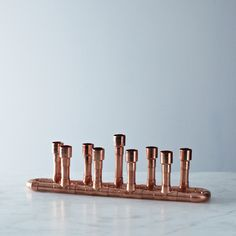 Industrial Style Copper Candle Holder