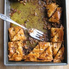 Citrus and Cardamom Baklava with Pistachios and Walnuts