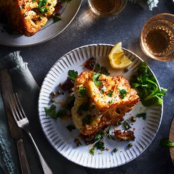 Brown Butter Cauliflower with Dates & Capers