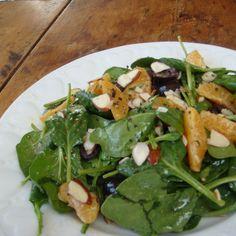 Mandarin, Olive, Spinach Salad