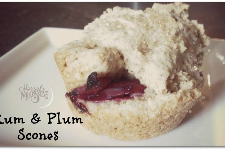 Rum & Plum Scones