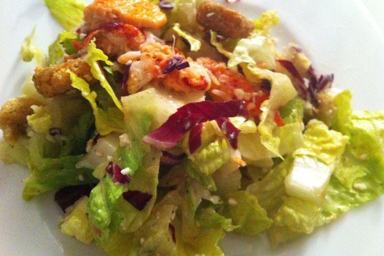 Lobster Caesar Salad With My Homemade Caesar Vinaigrette