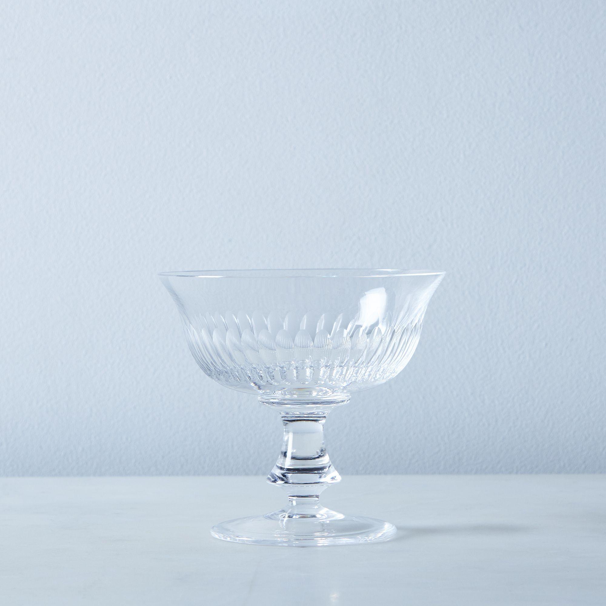 Close Ribs Vintage Italian Crystal Glassware - Fiorello, Dessert Cup