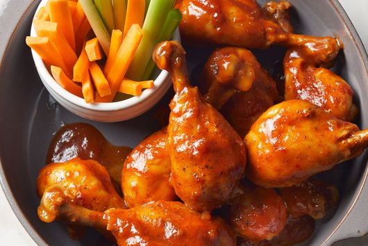 Slow-Cooker Bourbon BBQ Chicken Drumsticks