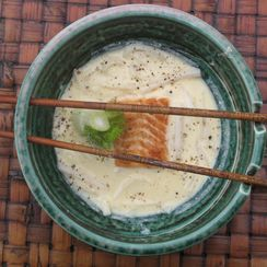 Thalia's Greek Ramen with Salmon and Fennel