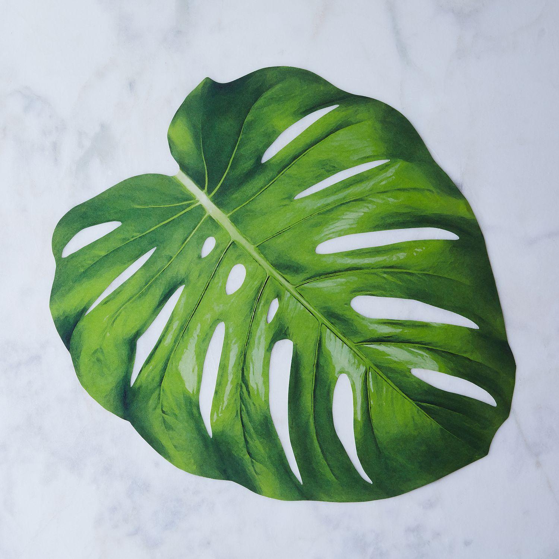 Monstera Leaf Placemats Set Of 12 On Food52