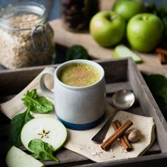 Apple Pie Warm Green Smoothies