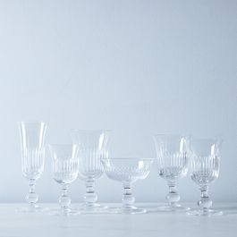 Close Ribs Vintage Italian Crystal Glassware