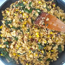 Quinoa with Chard, Sausage, and Corn