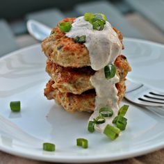Mini Spicy Creole Turkey Patties with Creole Yogurt