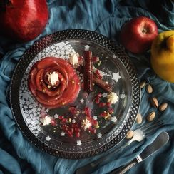 Turkish Quince Dessert with Apple Roses