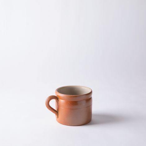 Vintage French Stoneware Extra Large Mug