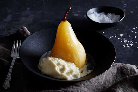 Honey-Poached Pears With Burrata Is Winter's New Favorite Dessert