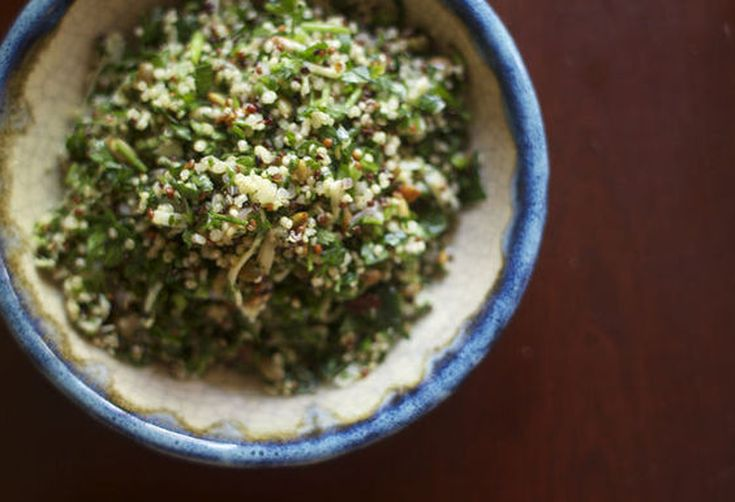 Chopped Parsley Salad with Quinoa, Comte + Pumpkin Seeds